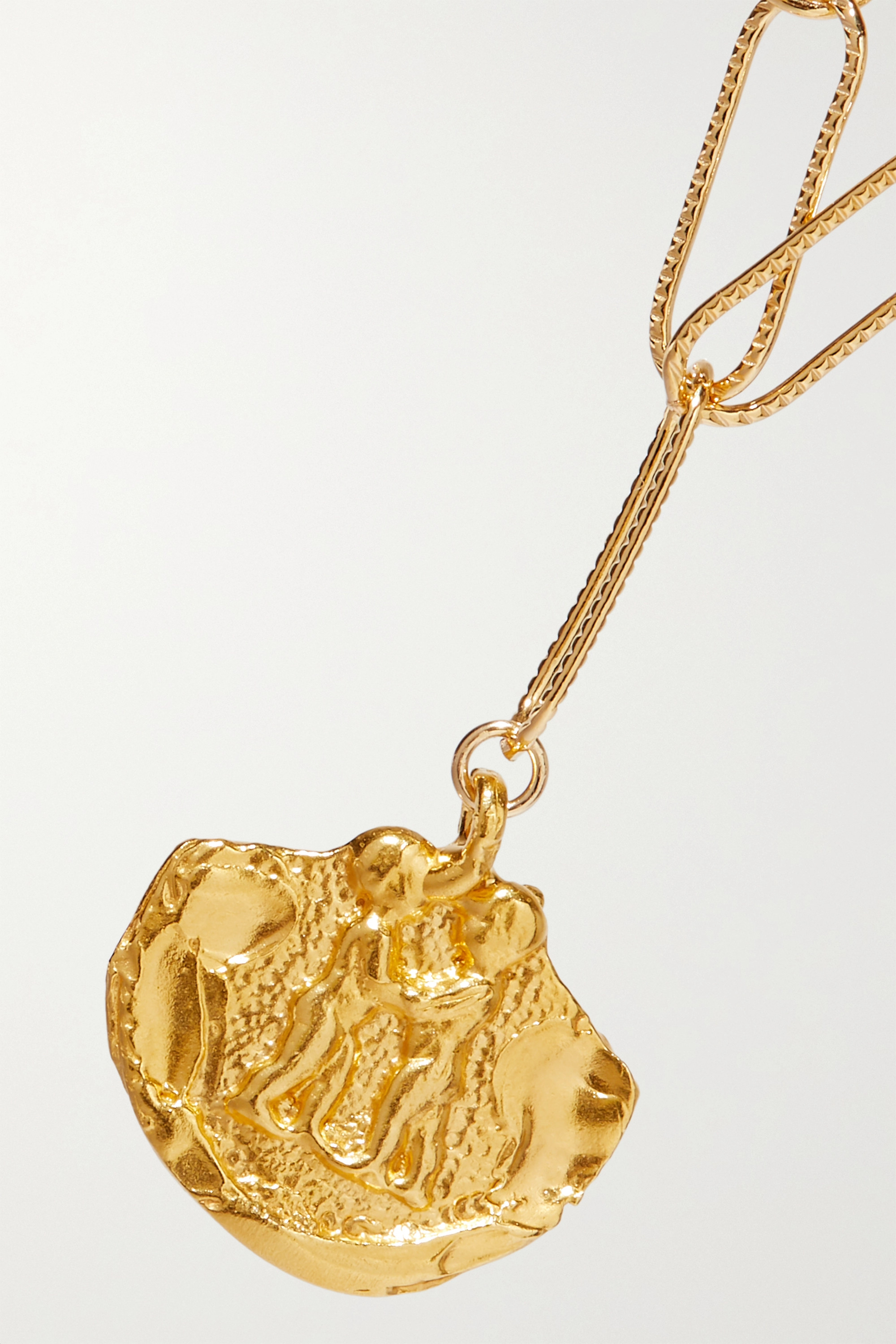 Alighieri Paola and Francesca gold-plated necklace