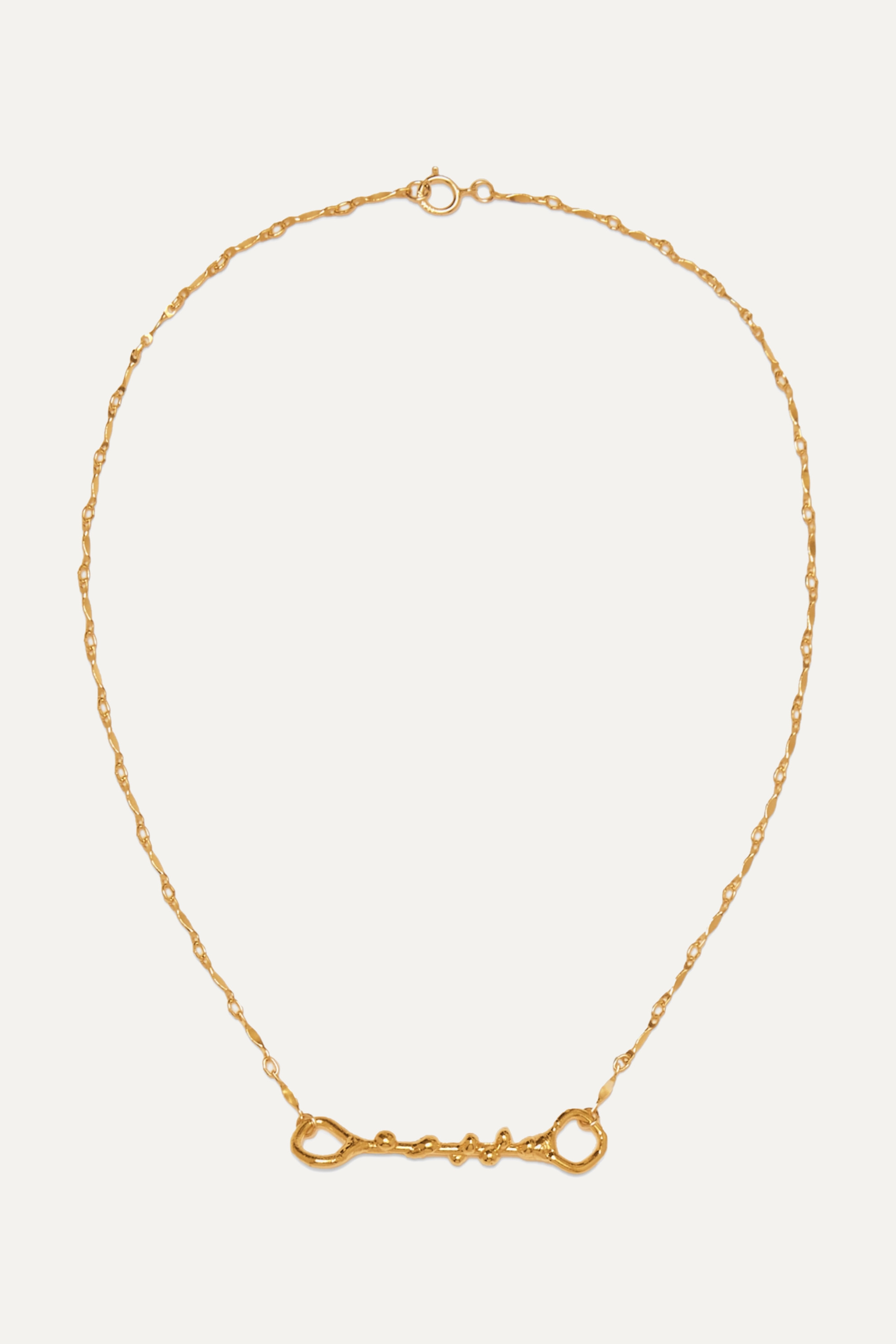 Alighieri The Spectre gold-plated necklace