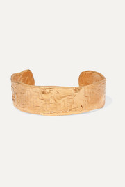 Alighieri The Woven History gold-plated cuff