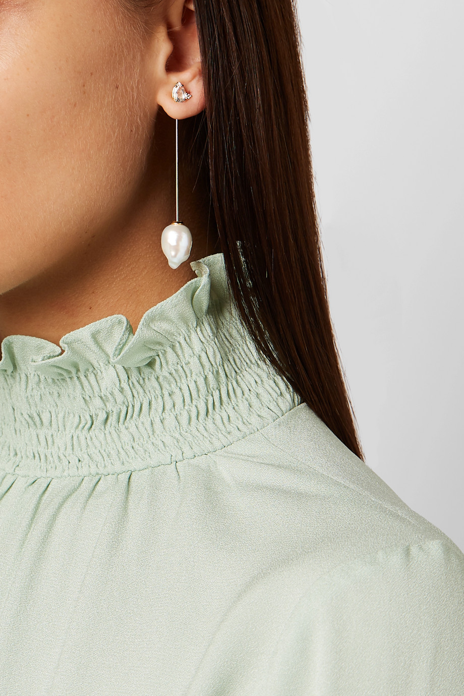 Mizuki 14-karat gold multi-stone earrings