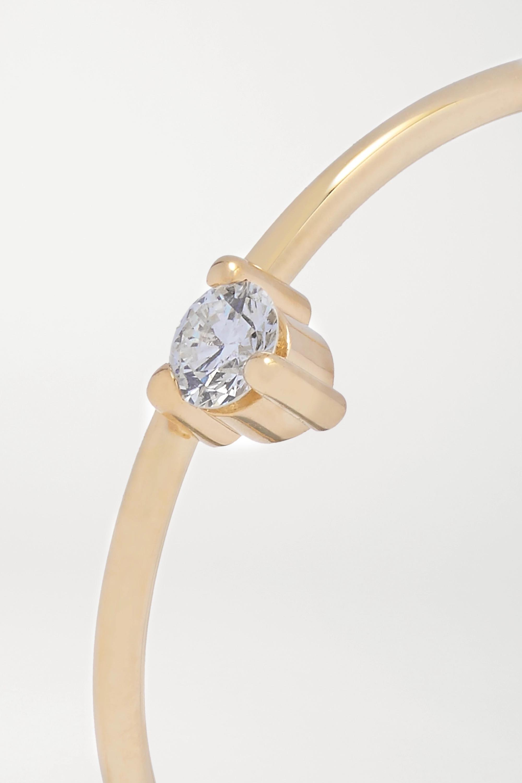 Mizuki Baby Tiara 14-karat gold diamond ring