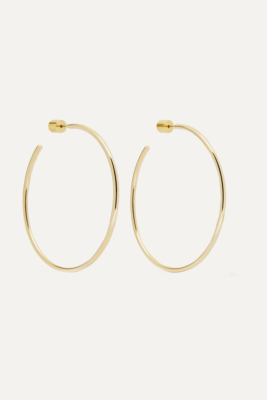 "Jennifer Fisher 2"" Thread gold-plated hoop earrings"