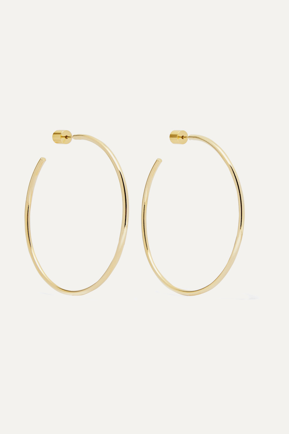 "Jennifer Fisher 2"" Thread gold-plated hoop earrings"