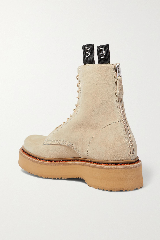 R13 Suede platform ankle boots