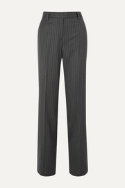 Salvatore Ferragamo Pinstriped wool straight-leg pants
