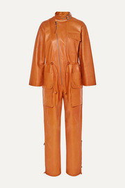 Salvatore Ferragamo Leather jumpsuit