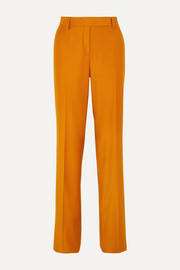 Salvatore Ferragamo Wool and silk-blend straight-leg pants