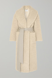 Salvatore Ferragamo Belted cashmere and silk-blend coat