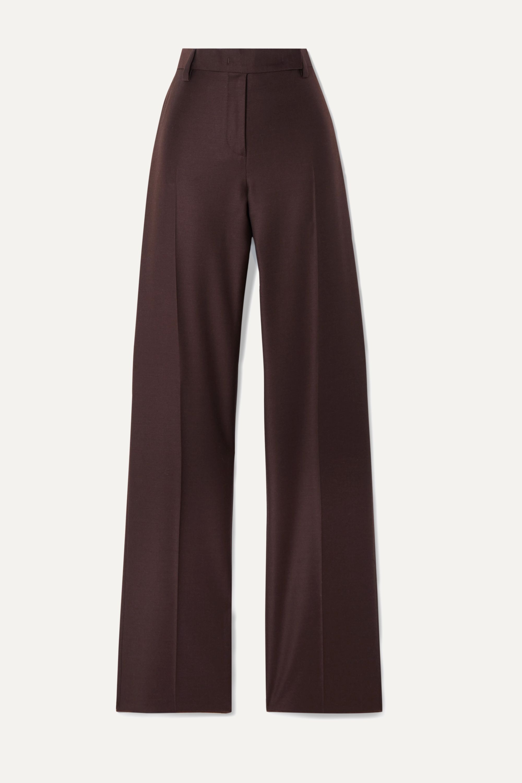 Salvatore Ferragamo Wool and silk-blend twill straight-leg pants
