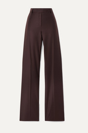 Salvatore Ferragamo Wool and silk-blend twill straight-leg pants