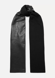 Salvatore Ferragamo Leather and wool scarf