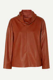 Salvatore Ferragamo Leather turtleneck top