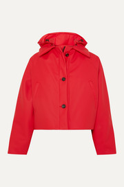 Kassl Editions Cropped hooded cotton-blend shell jacket