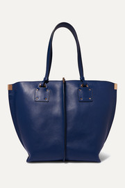 Vick textured-leather tote