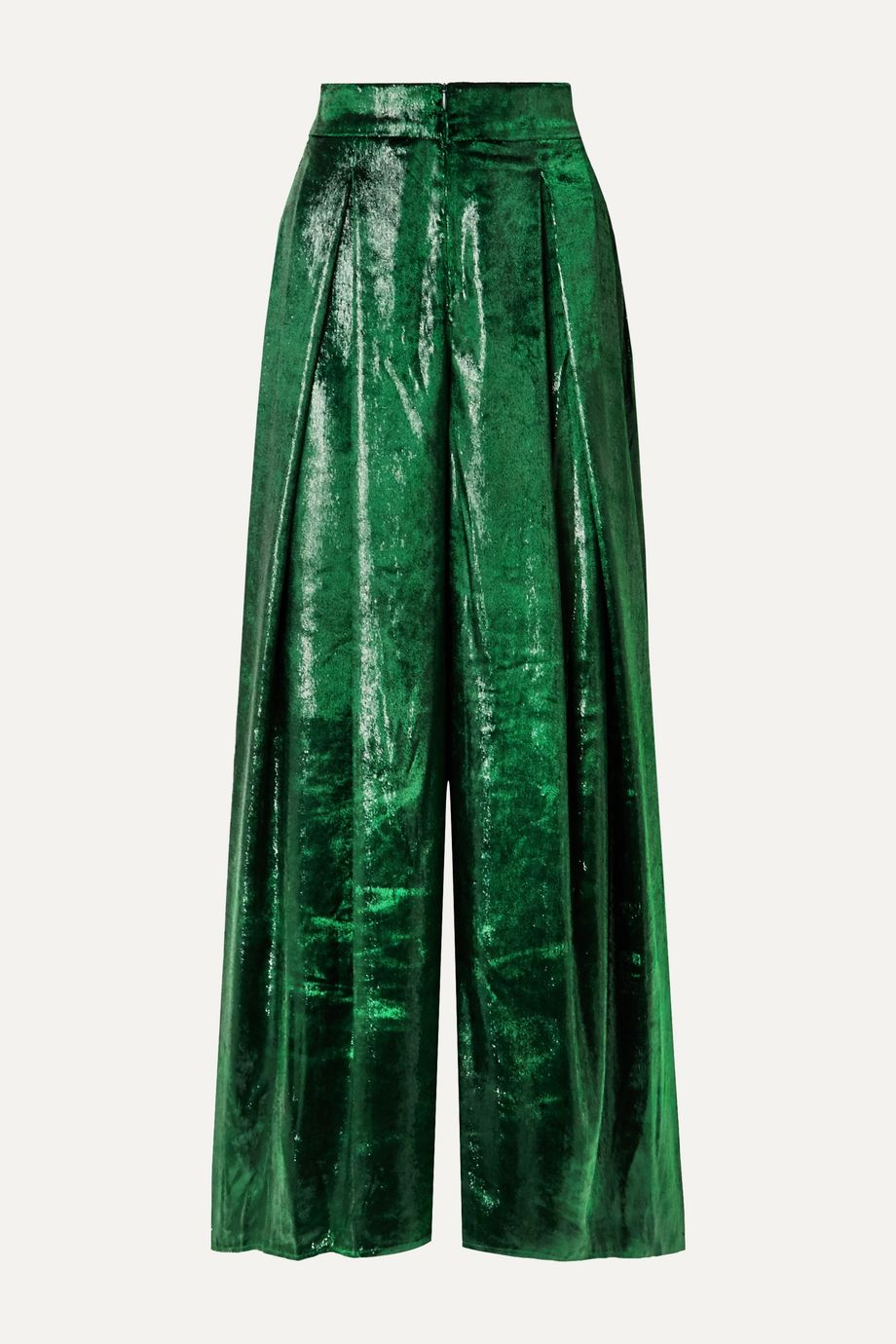 PatBO Metallic velvet wide-leg pants