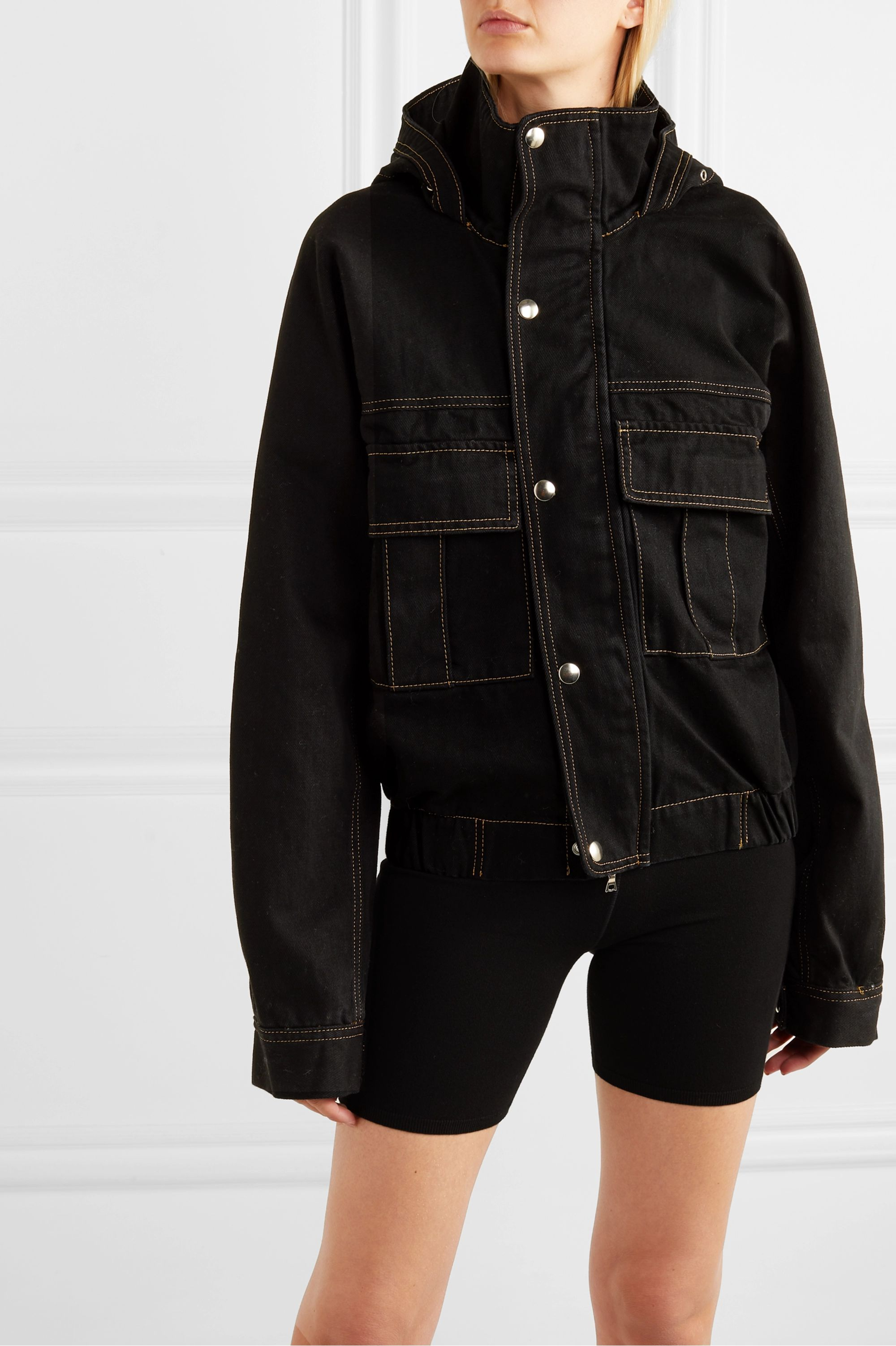 Matthew Adams Dolan Hooded denim jacket