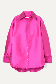 Matthew Adams Dolan Oversized satin shirt