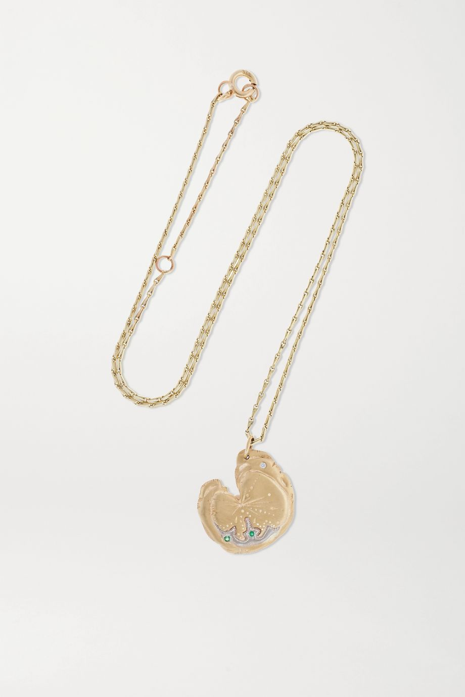 Pascale Monvoisin Calypso N°1 9-karat gold, emerald and diamond necklace
