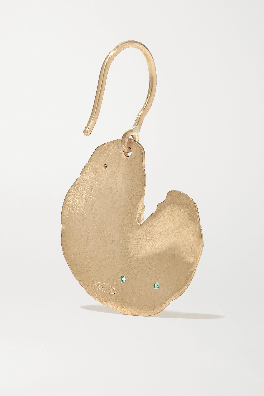 Pascale Monvoisin Calypso 9K 黄金、纯银、祖母绿、钻石单只耳环