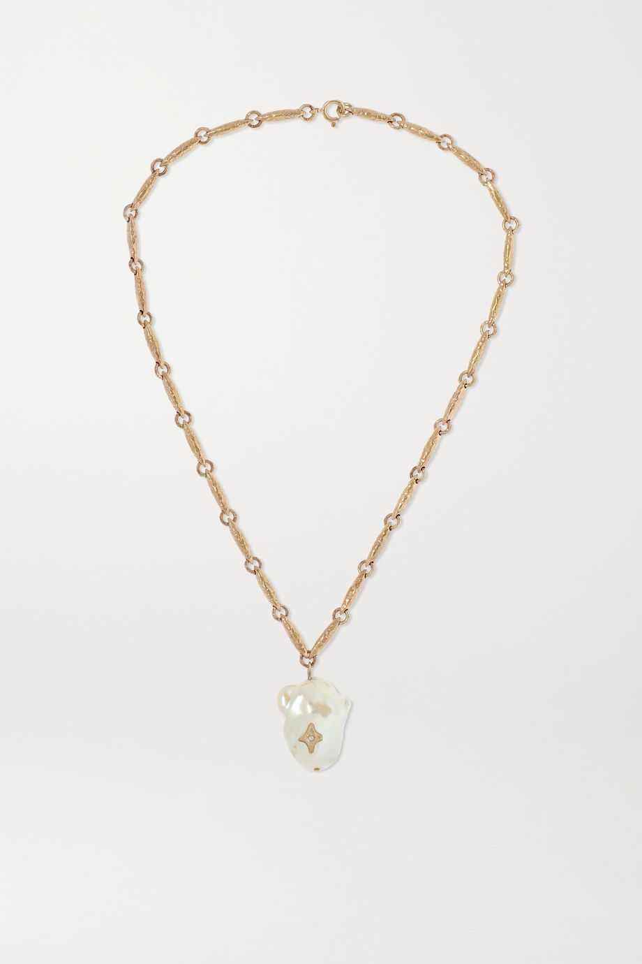 Pascale Monvoisin Charlie N°2 9-karat gold, pearl and diamond necklace
