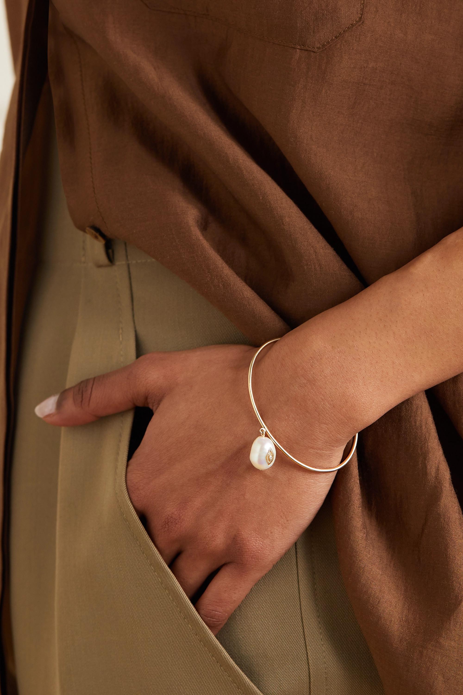 Pascale Monvoisin Charlie 9-karat gold, pearl and diamond bracelet