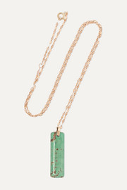 Marcel 9-karat gold turquoise necklace