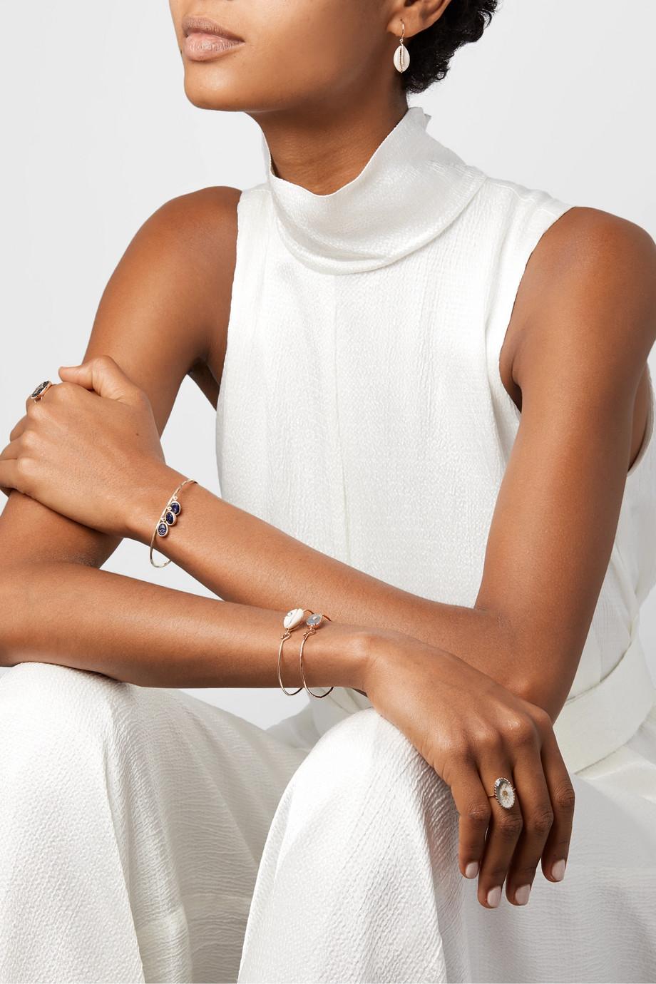 Pascale Monvoisin Orso N°1 9-karat rose gold, labradorite and diamond bracelet