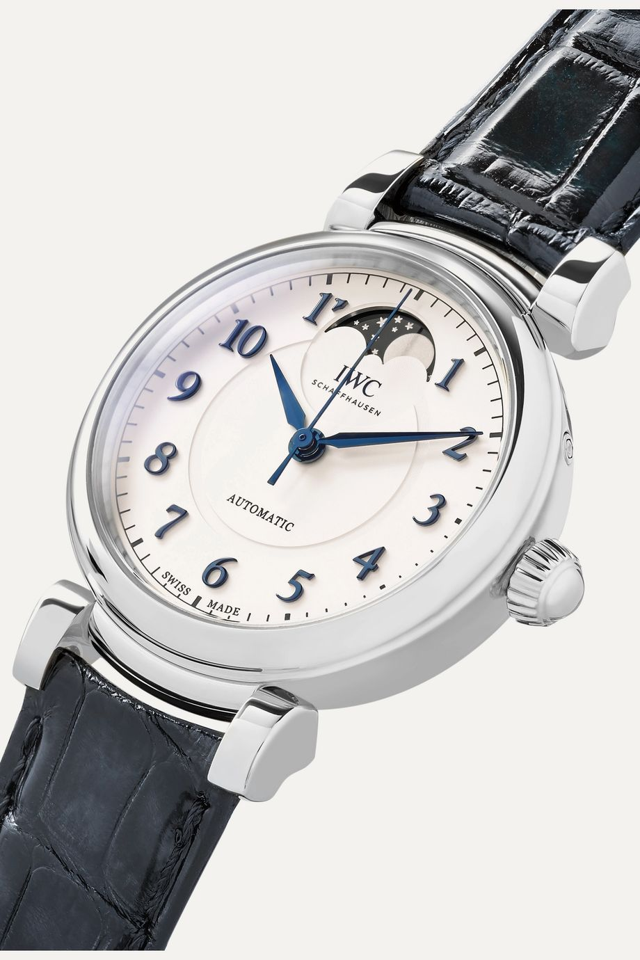 IWC SCHAFFHAUSEN Da Vinci Automatic Moon Phase 36mm stainless steel and alligator watch