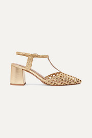 Sevilla woven leather pumps