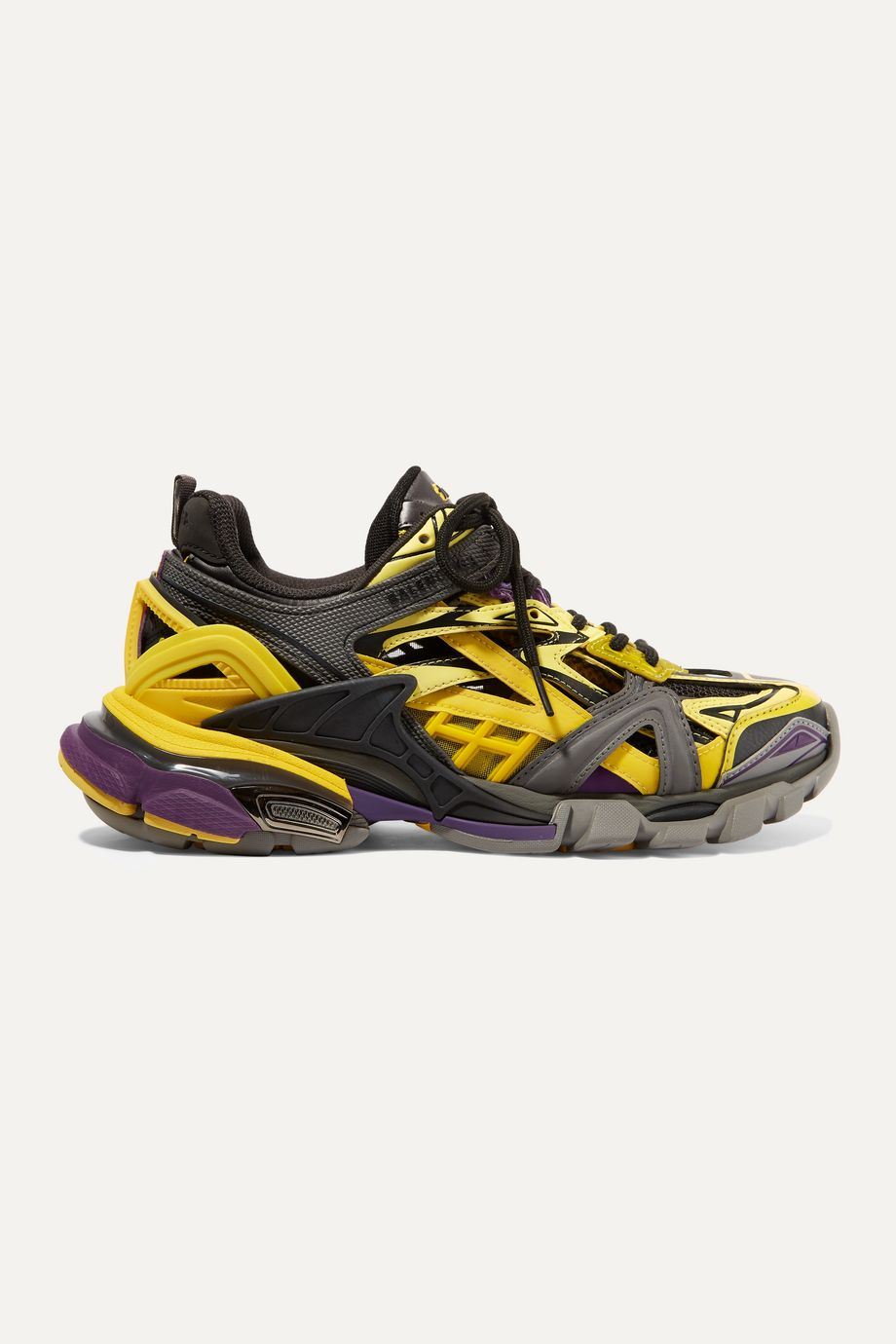 Balenciaga Track 2 品牌标志细节金属感网眼橡胶运动鞋