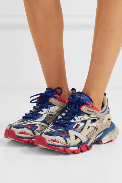 cheapest price website for discount 50% price Balenciaga | Track 2 logo-detailed mesh and rubber sneakers ...