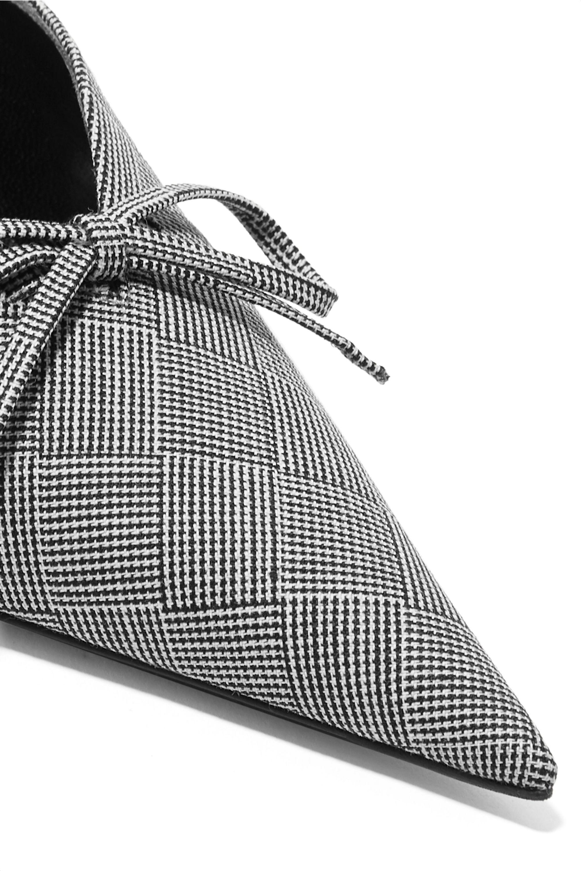Balenciaga Knife bow-embellished checked wool mules