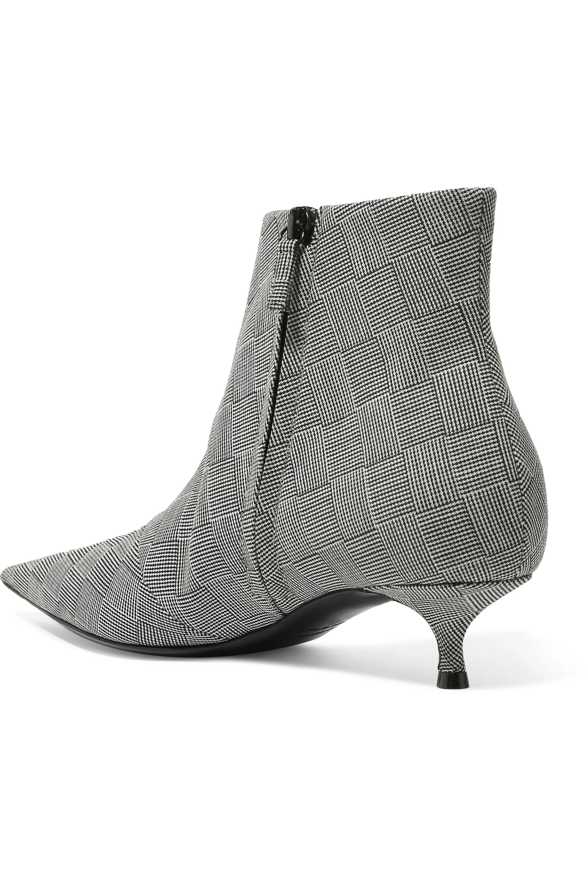Balenciaga Knife checked wool ankle boots