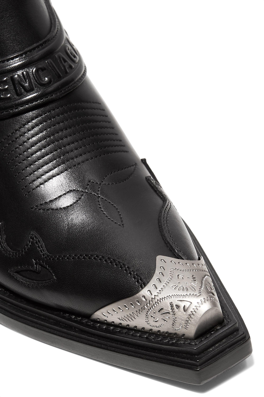 Balenciaga Santiag leather ankle boots