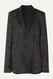 Unravel Project Oversized satin-trimmed jacquard blazer