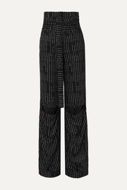 Unravel Project Cutout jacquard straight-leg pants