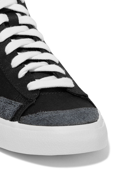 Nike Sneakers Blazer Mid '77 suede-trimmed canvas high-top sneakers