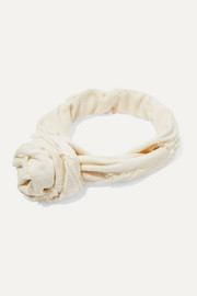 Cult Gaia Turband knotted frayed gauze headband