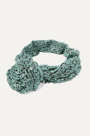 Turband knotted frayed chiffon headband