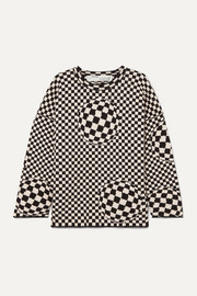 Off-White Checked cotton-blend sweater