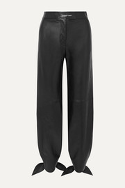 Off-White Leather tapered pants