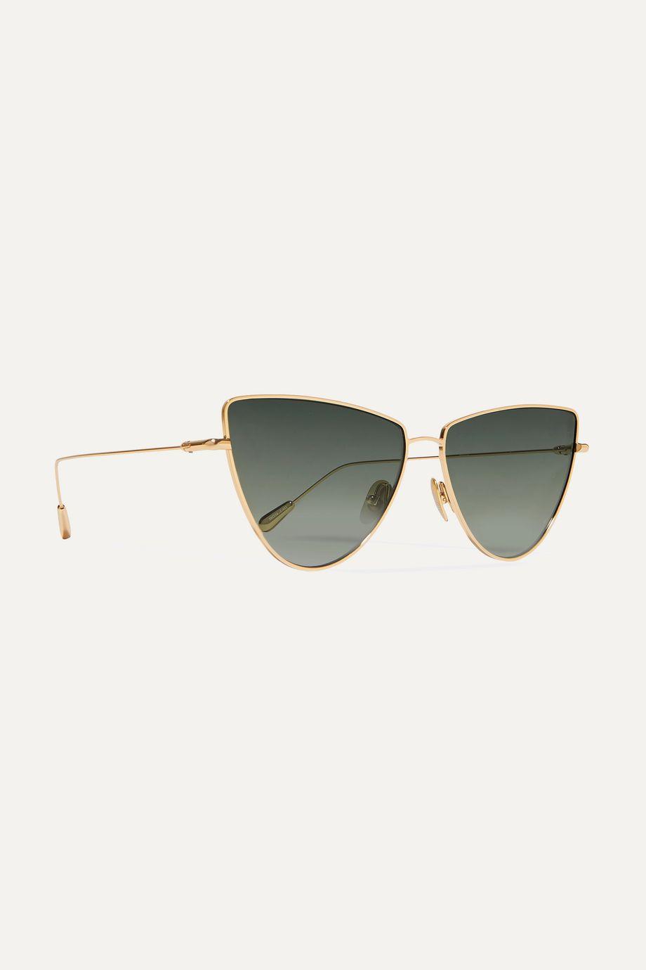 Kaleos Dolan cat-eye gold-tone sunglasses