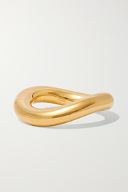 Loop gold-tone bangle