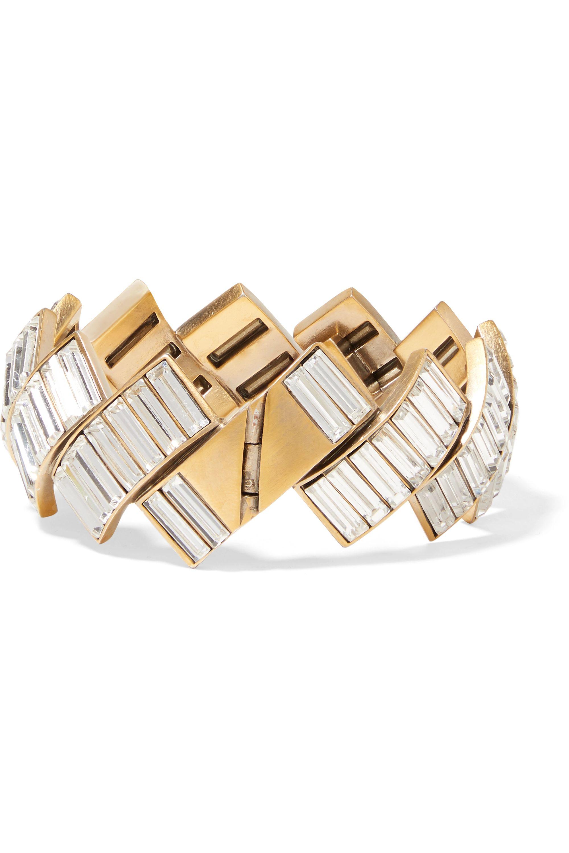 Balenciaga Gold-tone crystal bracelet