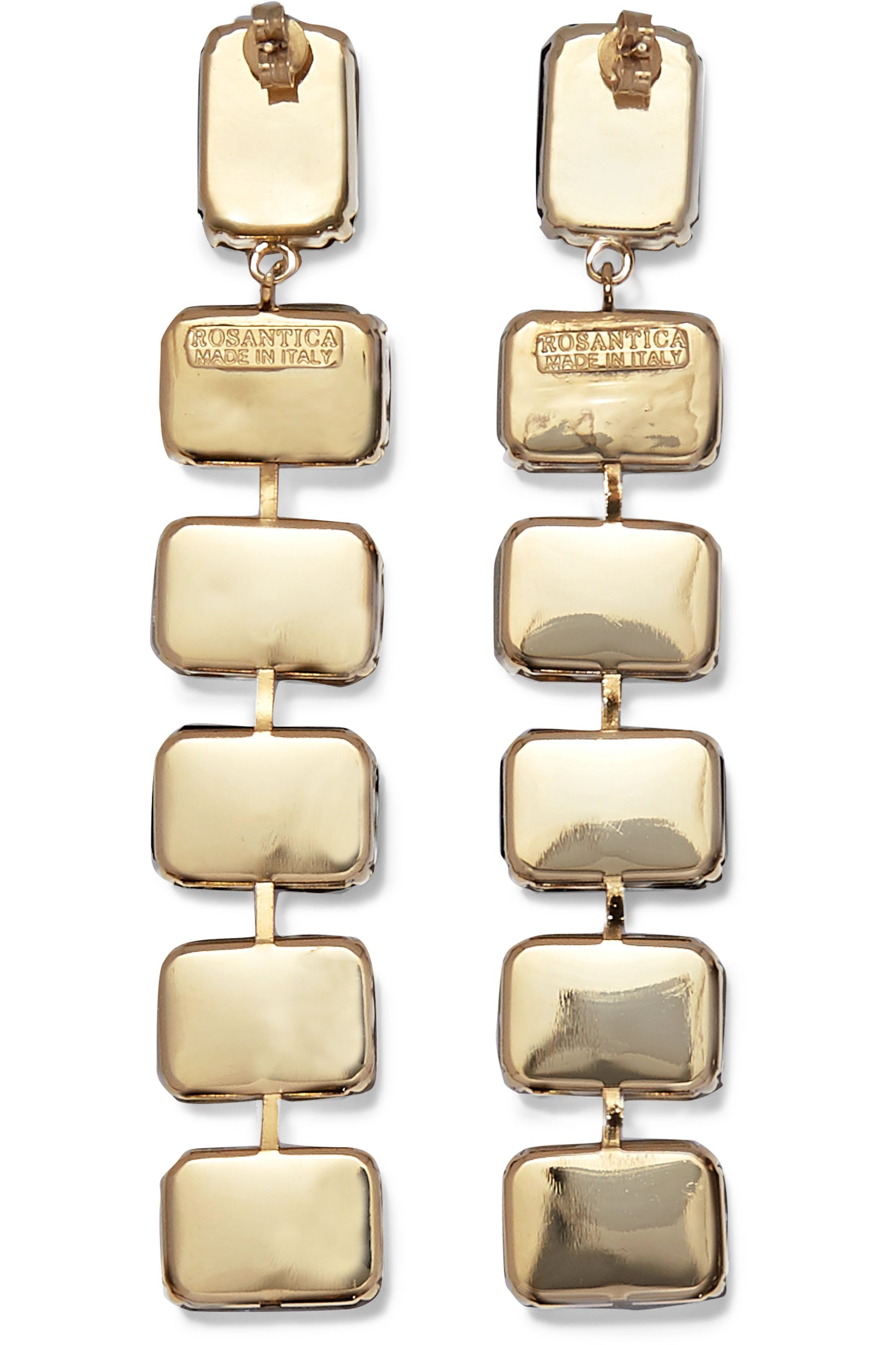 Rosantica Patto gold-tone crystal earrings