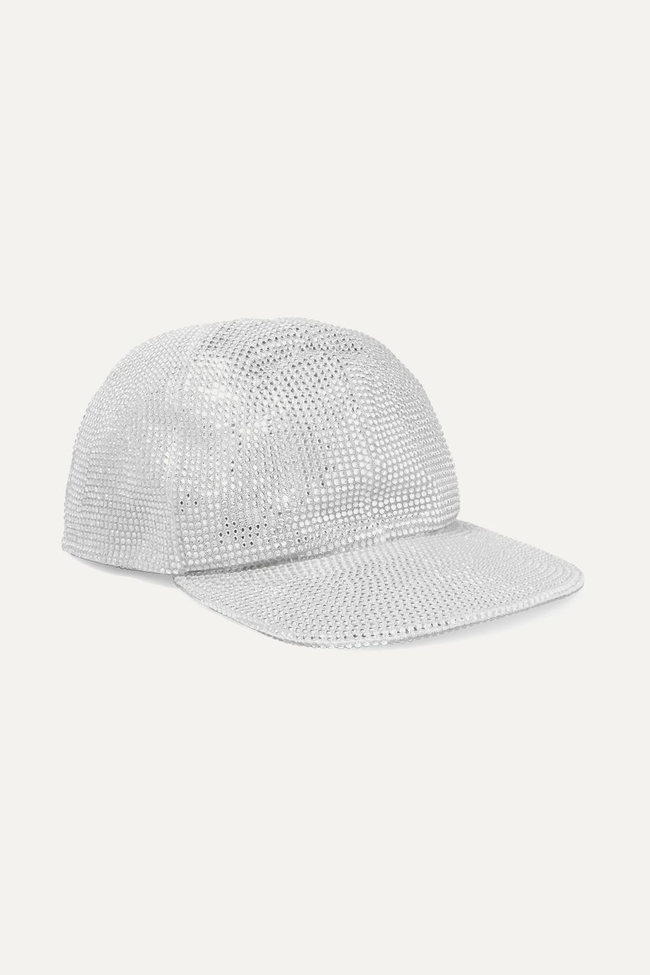Off-White Crystal-embellished lamé cap