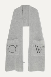 Off-White Printed knitted scarf