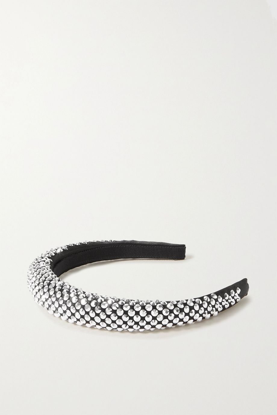 Prada Crystal-embellished satin headband