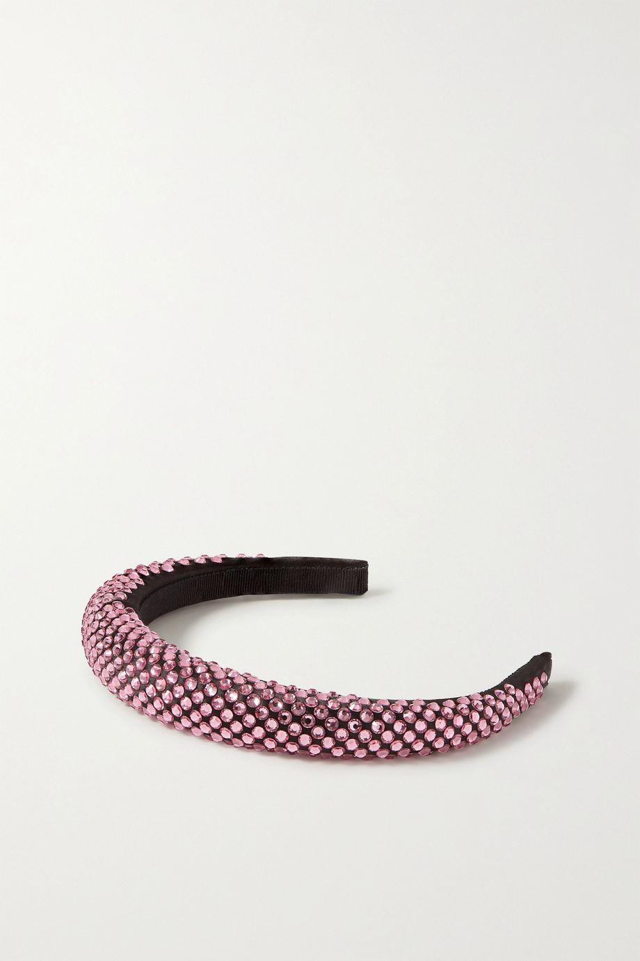 Prada 水晶缀饰缎布发箍