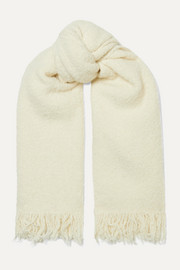 Lauren Manoogian Fringed alpaca and wool-blend scarf